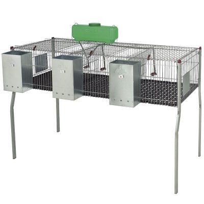 jaula conejos 3 departamentos